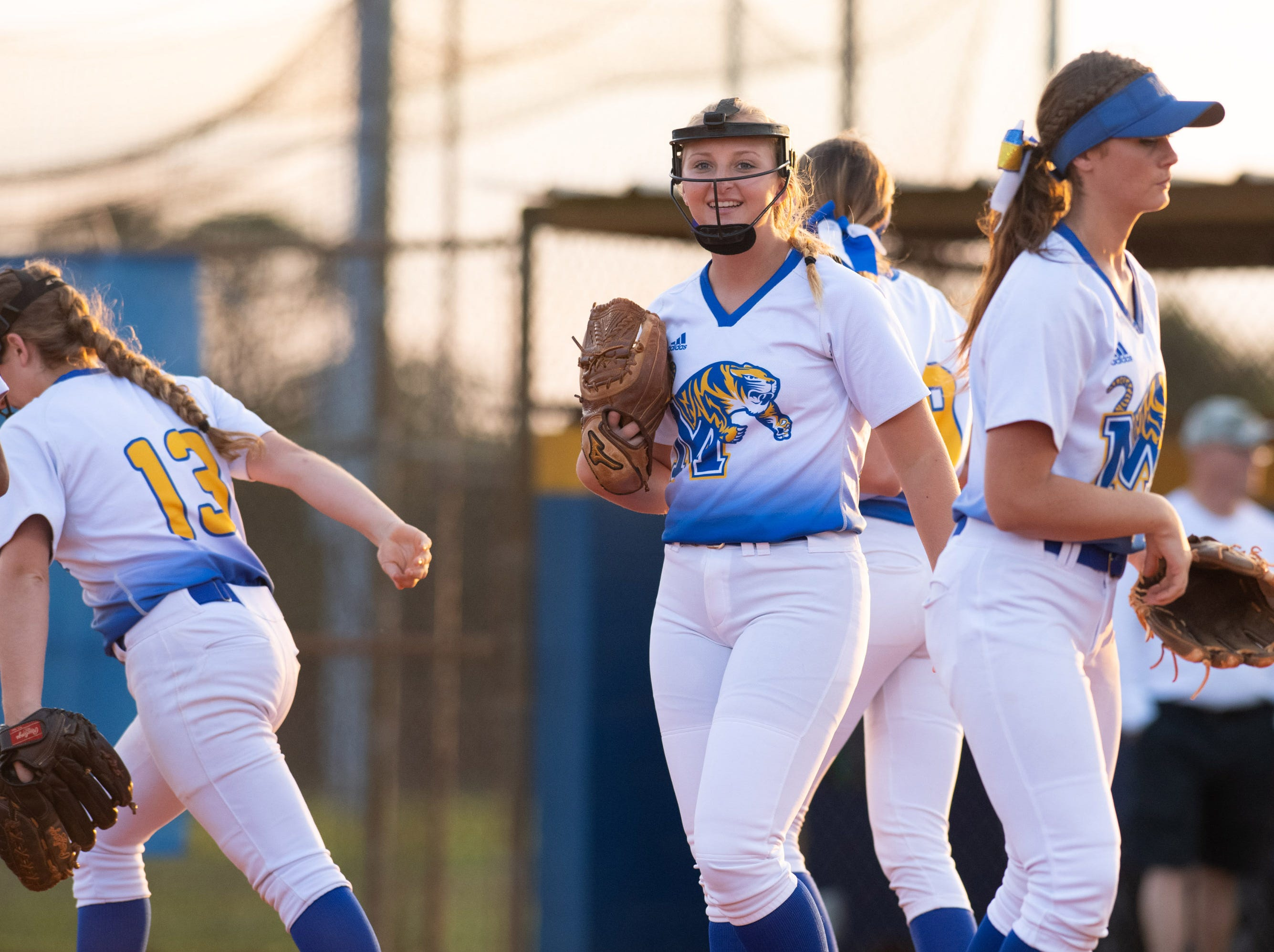 Martin County plays Jupiter during the high school softball game at Martin County High School on Friday, March 1, 2019, in Stuart.