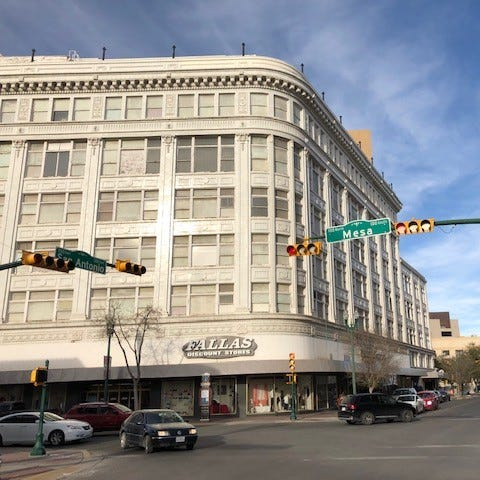 Fire hazards resolved in historic Downtown El Paso building; Fallas Discount Store reopens