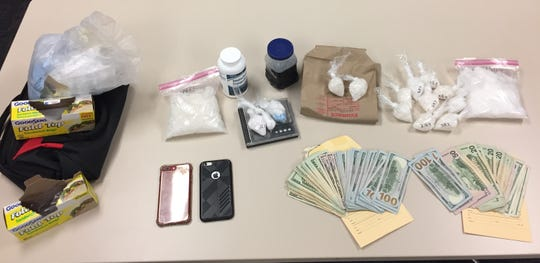 Cocaine, methamphetamine, cash and other items were seized by Ventura County Sheriff's officials during a recent arrest.