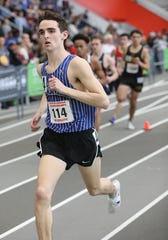 Matt Rizzo from Bronxville runs the 1000 meter run during the New York State Track & Field Championships at the Ocean Breeze athletic complex on Staten Island, March 2, 2019.