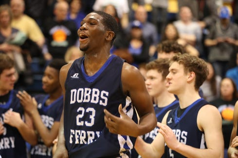 Dobbs Ferry beat Blind Brook 50-45 in OT in the Section 1, Class B championship game at Pace University March 1, 2019. .