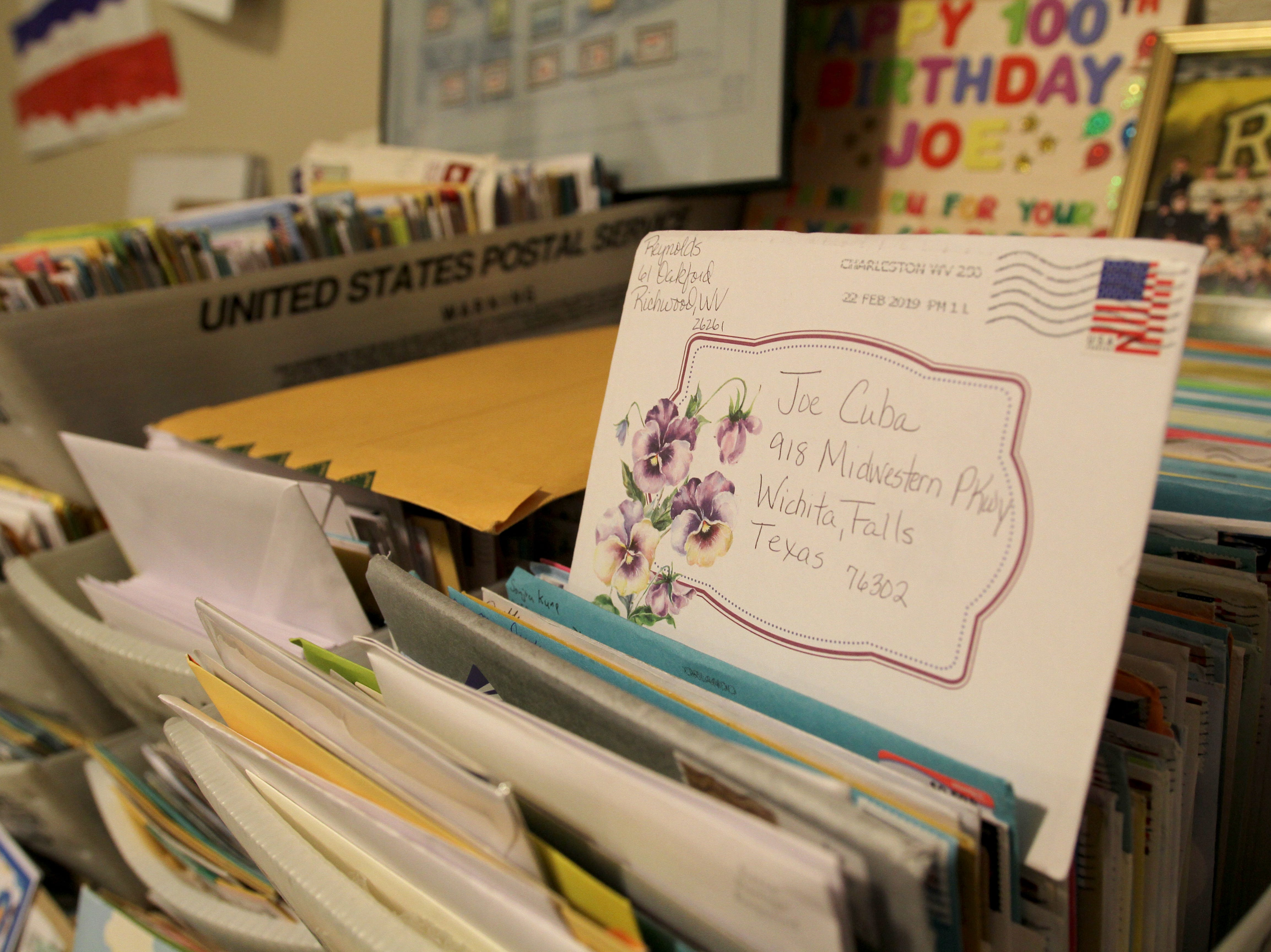 Thousands of letters were sent to WWII veteran Joe Cuba for his 100th birthday Saturday, March 2, 2019, at Brookdale Midwestern.