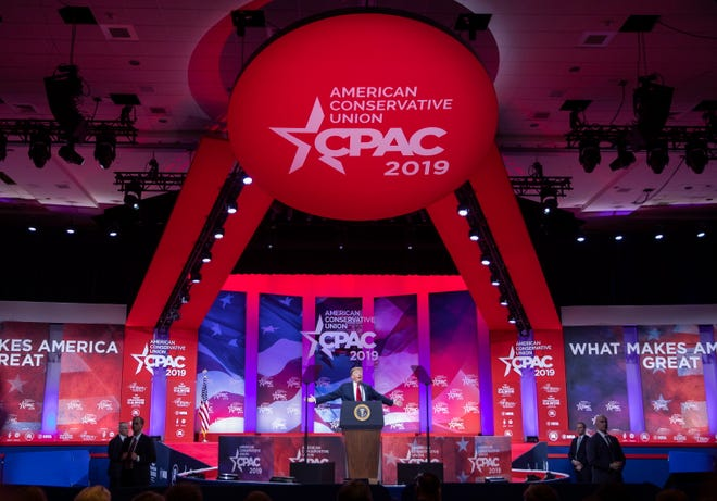 President Donald J. Trump speaks at the 46th annual Conservative Political Action Conference (CPAC) at the Gaylord National Resort & Convention Center in National Harbor, Md., on March 2, 2019. Trump spoke on the final day of the four-day American Conservative Union's CPAC conference.