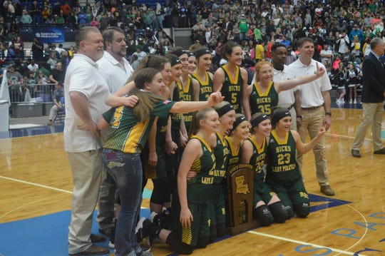 Hicks wins the Class B title and its first title of any kind since 1997.
