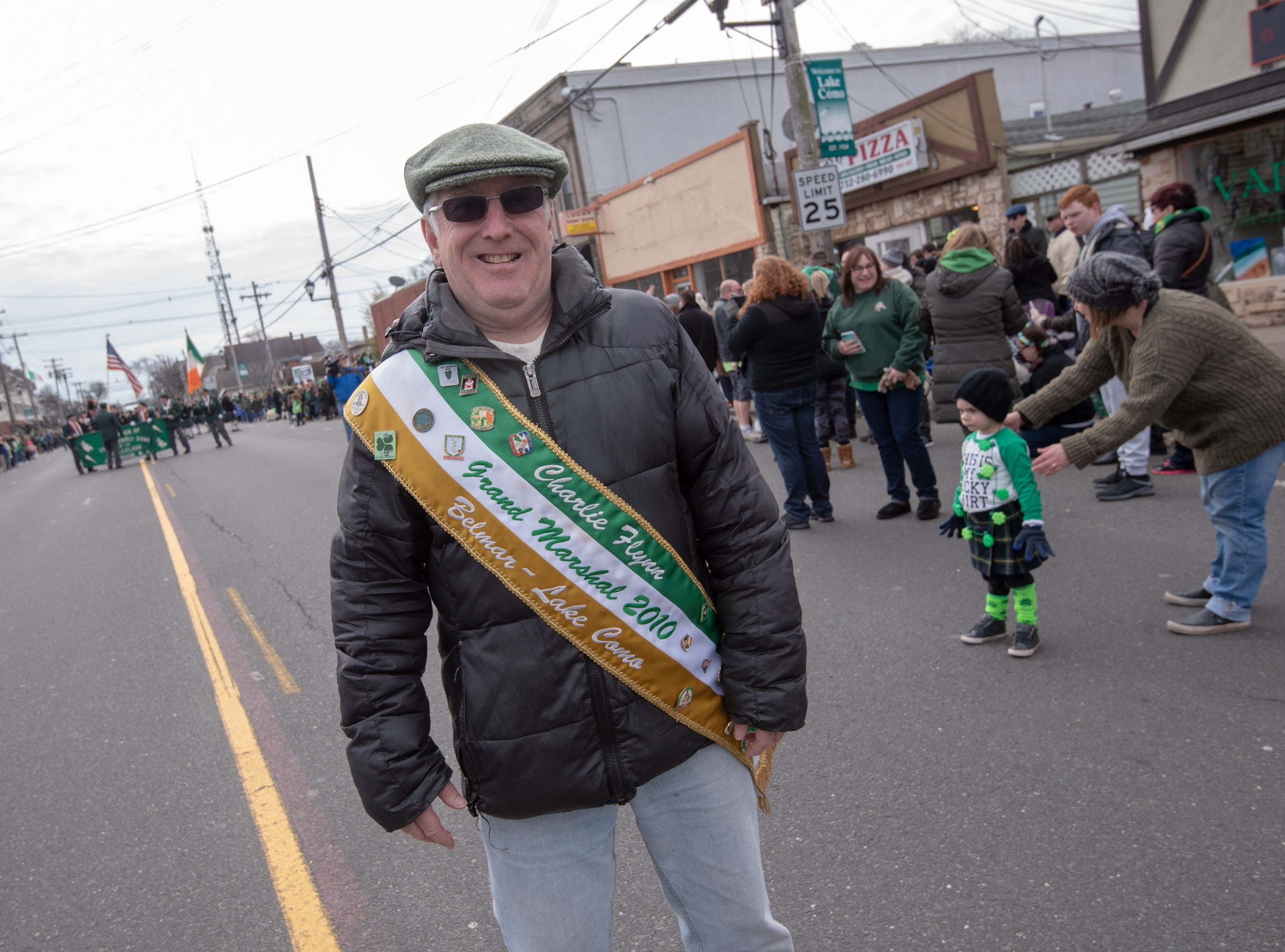 Charlie Flynn was the 2010 Grand Marshal. The 46th annual Belmar/Lake Como St. Patrick's Day Parade was held in Belmar on March 3, 2019.