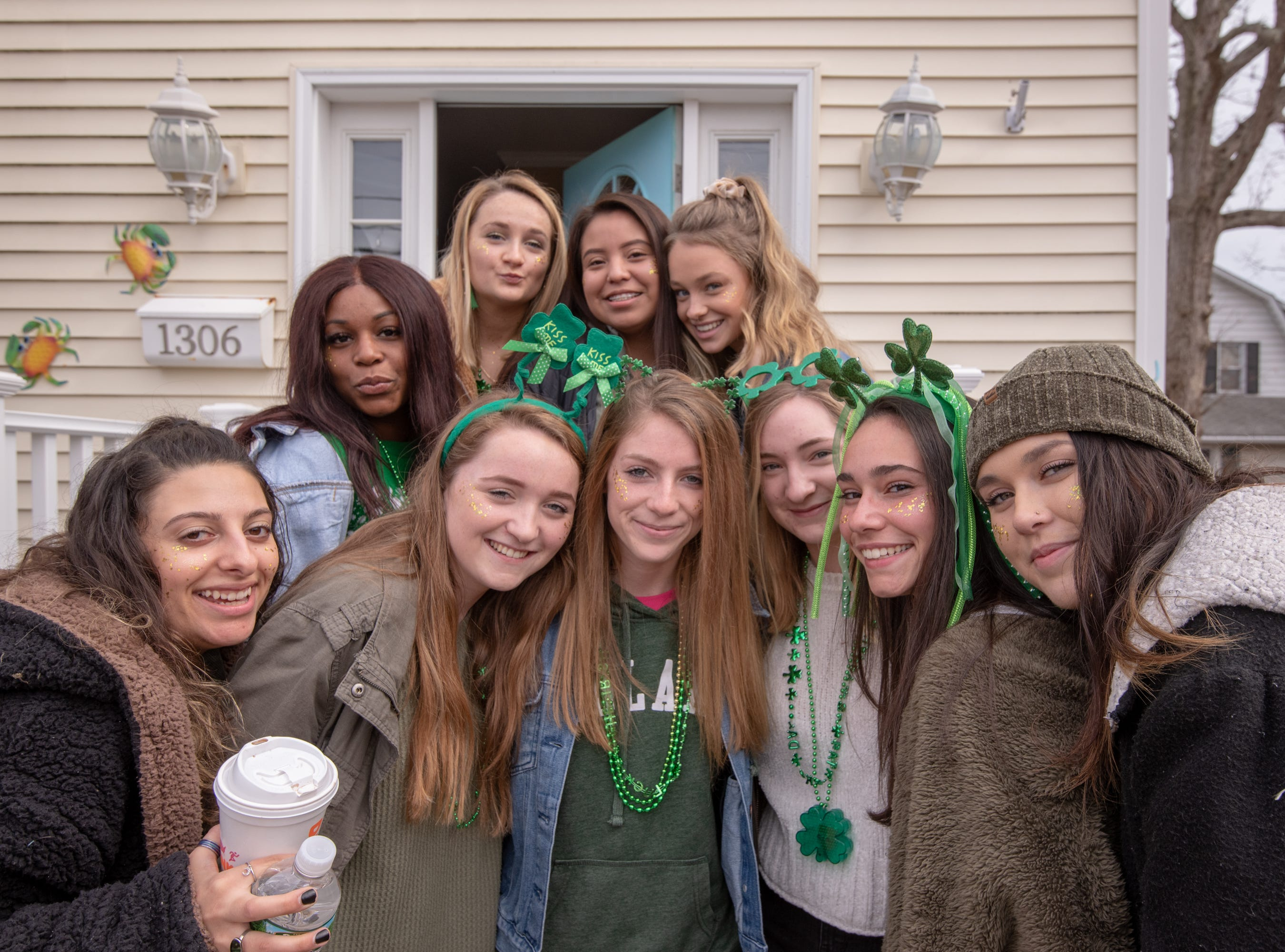 A group of young women are ready to head over to the parade. The 46th annual Belmar/Lake Como St. Patrick's Day Parade was held in Belmar on March 3, 2019.