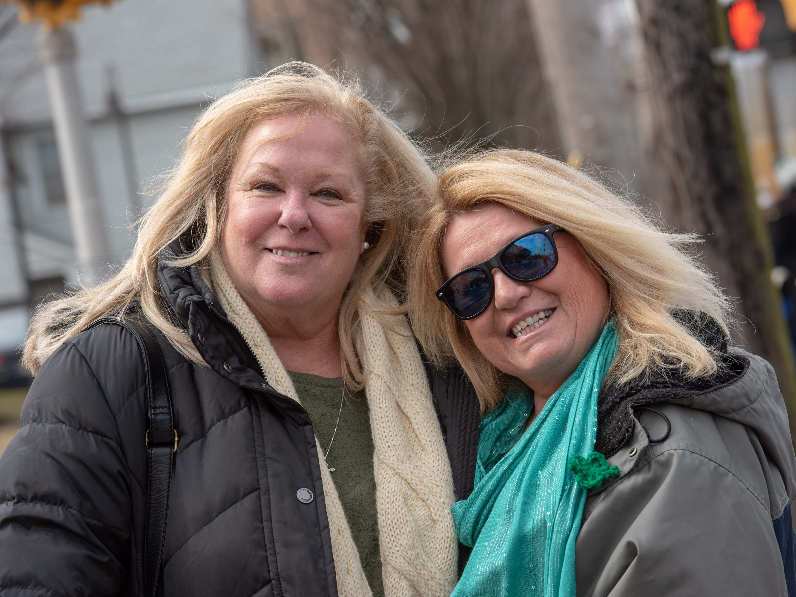 Bonnie Schneider (left) and Louise Dutt, both of Wall Twp., pose for the camera. The 46th annual Belmar/Lake Como St. Patrick's Day Parade was held in Belmar on March 3, 2019.