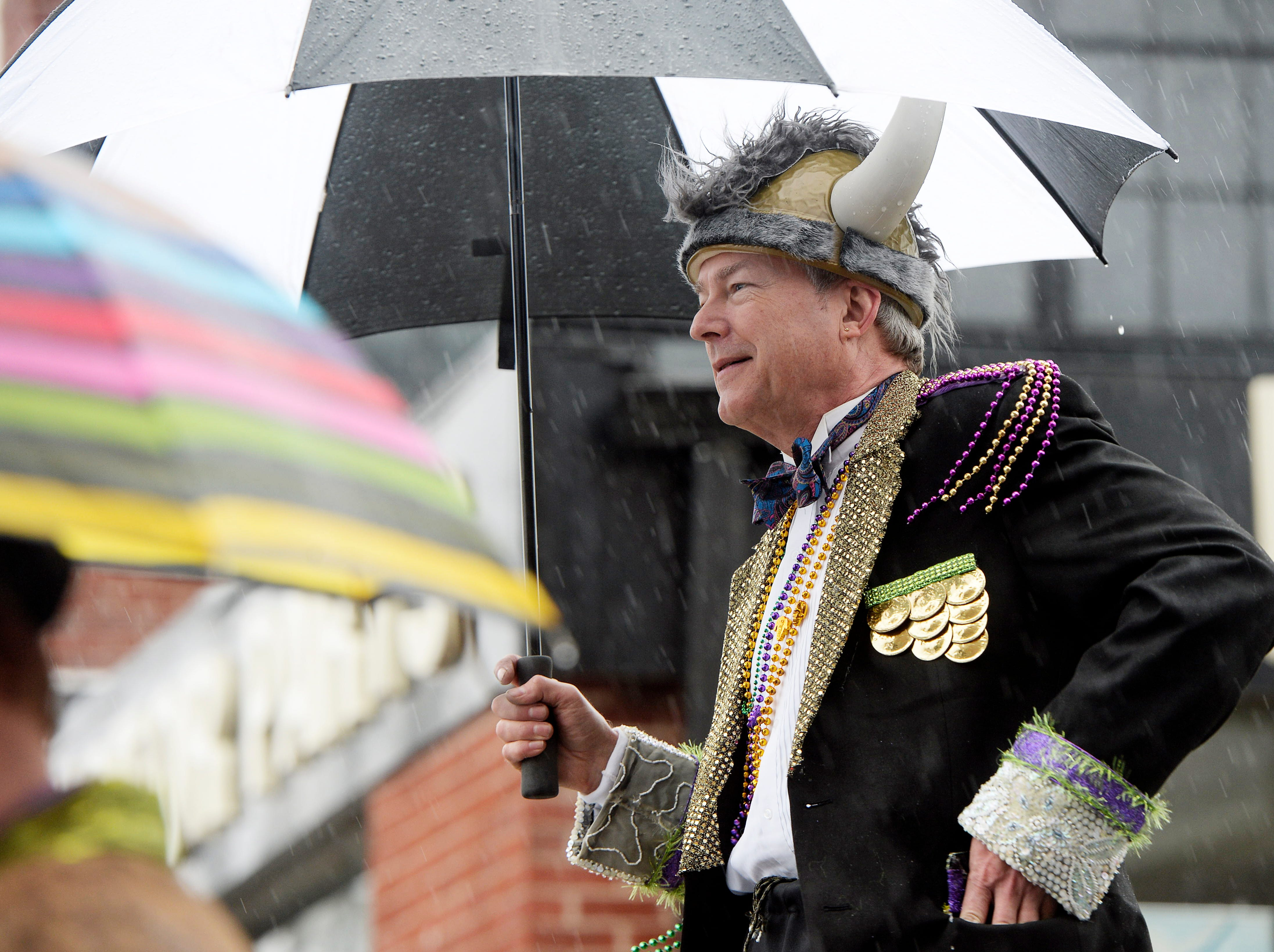 The 12th annual Mardi Gras Parade traveled through the South Slope despite rain March 3, 2019 in Asheville. The theme was Wild! Wild! Asheville!