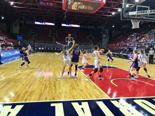 Action from Norwich vs. Owego in Section 4 Class B final.