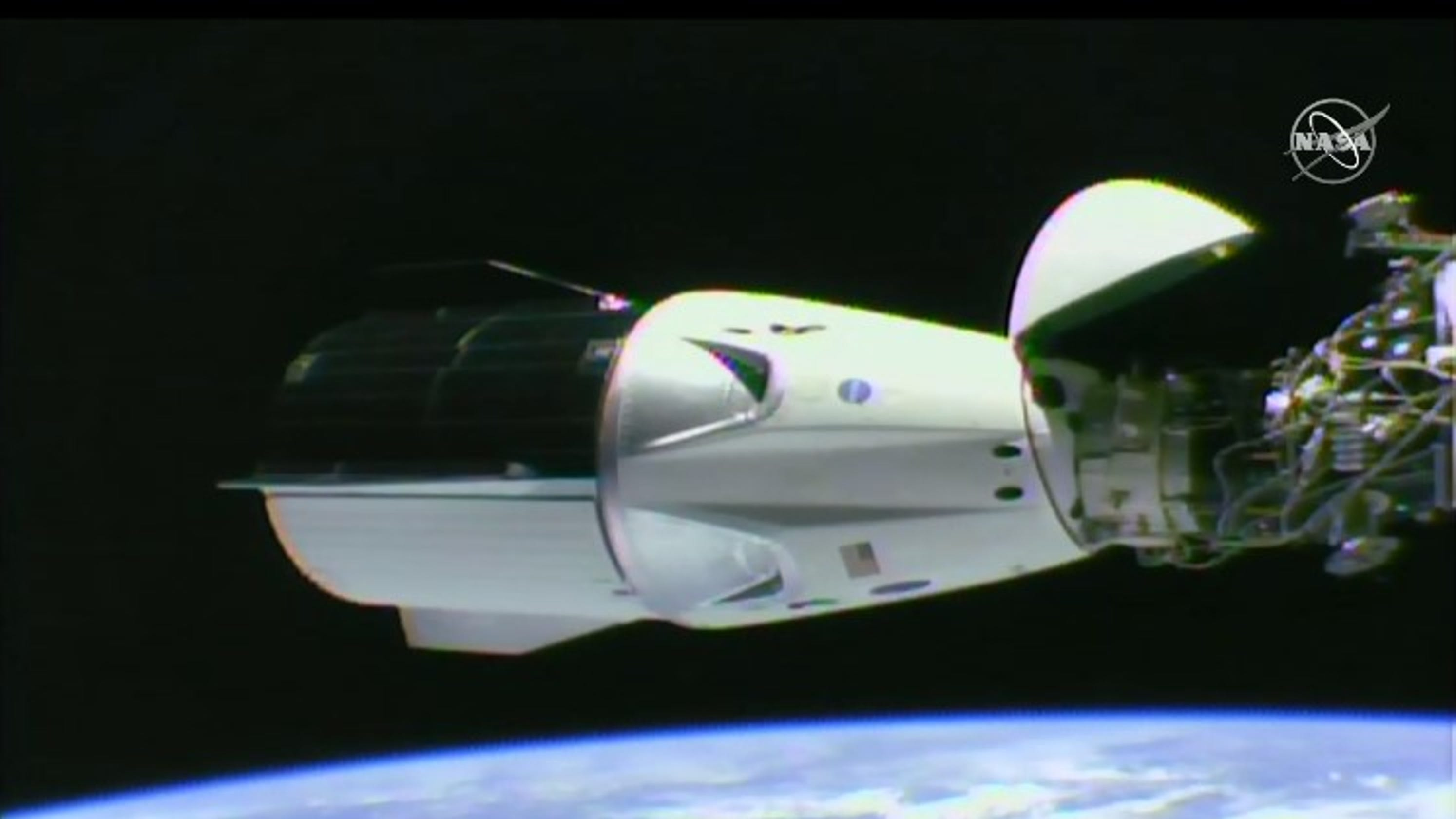 SpaceX Crew Dragon docks safely at ISS on Demo-1 test flight