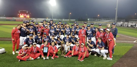 The Veterans Memorial baseball and softball teams won the Mira's tournament championships this weekend.