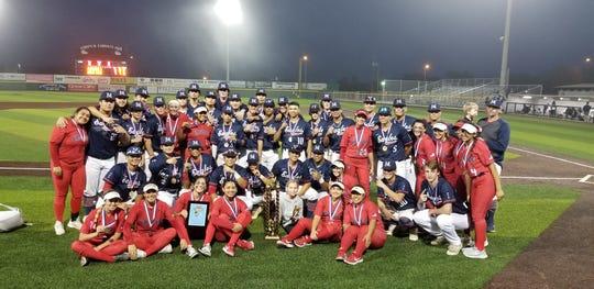 The Veterans Memorial baseball and softball teams won the Mira's tournament championships this weekend.
