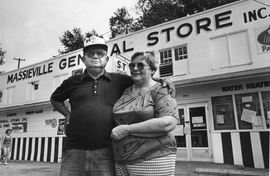The owners of the Massieville General Store Donald Deal and his wife, Osie.