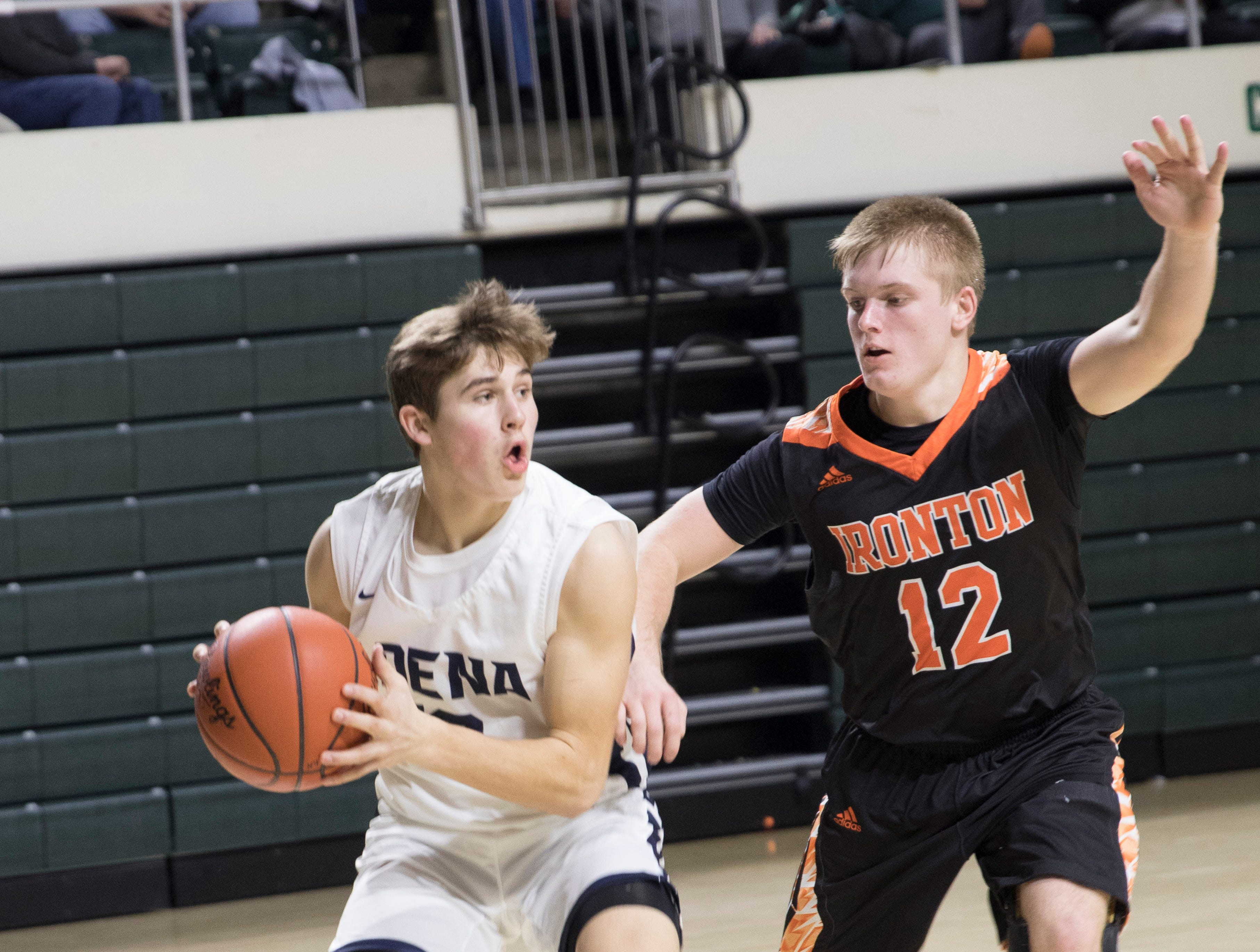 The Adena Warriors defeated the Ironton Fighting Tigers Saturday night in a Division III district semifinal game at Ohio University's Convocation Center in Athens, Ohio, on March 2, 2019. The Warriors will go on to play in a district final on Saturday, March 9, 2019.