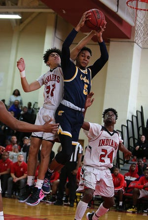 Rahway vs. Colonia boys basketball in the North 2 Group III semifinals on Saturday, March 2, 2019 at Rahway High School.