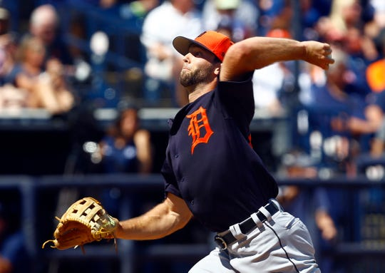 Daniel Norris throws a pitch during the second inning against the Yankees on Sunday.