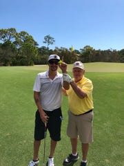 Kid Rock poses with Jack Nicklaus this week in Florida.
