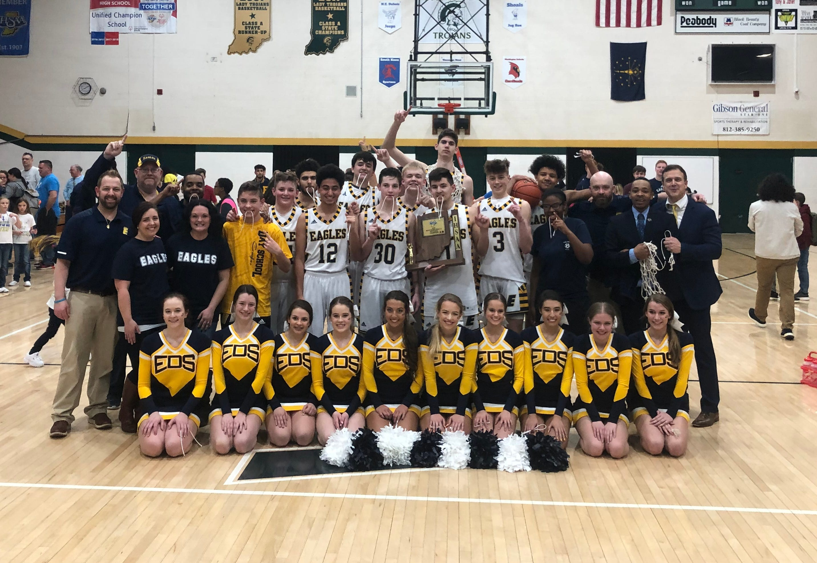 Day School poses after winning its second sectional title in program history.