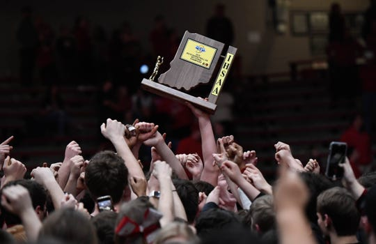 Earlier this year, Tell City boys' basketball beat Mater Dei to win a 2A sectional championship.