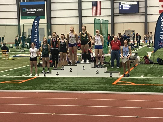 Fremont Ross senior AnneMarie Moses was second Saturday at the Division I indoor state track meet at SPIRE Institute.