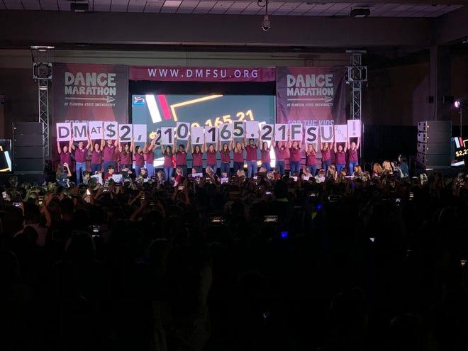 After a 40-hour marathon, FSU's Dance Marathon has raised $2,210,165.21 for the Children's Miracle Network.