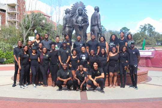 The Renegade Leadership Honor Society and Black Student Union encouraged students to dress in all black for a photoshoot in honor of Black History Month on Saturday, Feb. 23.