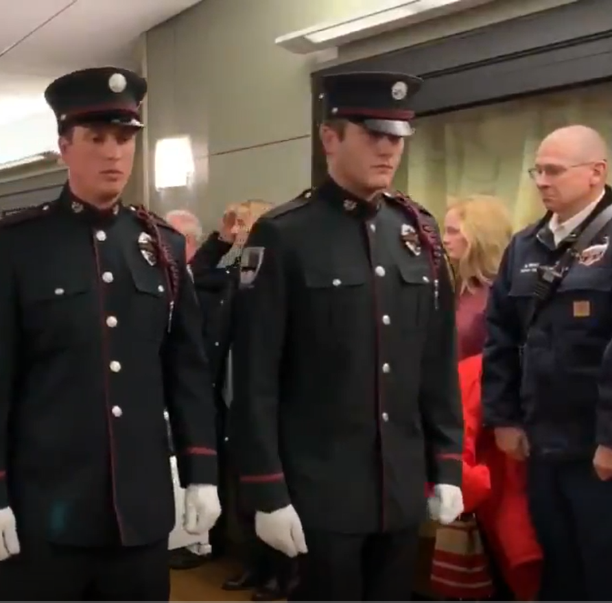 Colorado hospital gives final salute to firefighter who died from brain tumor