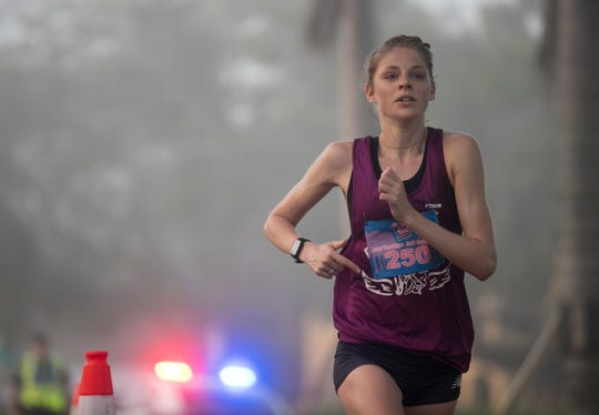 Samantha Roecker was the top female in the Lazy Flamingo Half Marathon on Sunday, March 3, 2019, in Fort Myers.