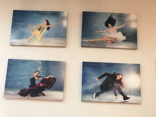 These underwater images taken by Scott Photography are of Miss Linda's School of Dance students.