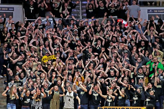 Purdue's Paint Crew is one of the more raucous student sections in the country.