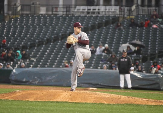 Mississippi State freshman pitcher J.T. Ginn threw seven innings against Texas Tech in the second game of the Frisco Classic. He had eight strikeouts and just one walk.