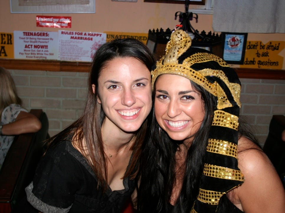 "Stephanie Gilman had her bachelorette party at King Tut Grill in 2011. ""It was incredible,"" Gilman said. ""Other people eating there even joined in dancing. I swear I'll never hear Madonna's 'Like a Prayer' the same after dancing to it on the bar at King Tut's."""