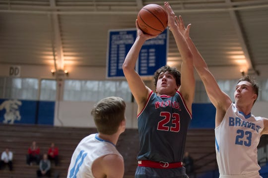 Yanni Karlaftis leads the Red Devils with 13.4 points per game.