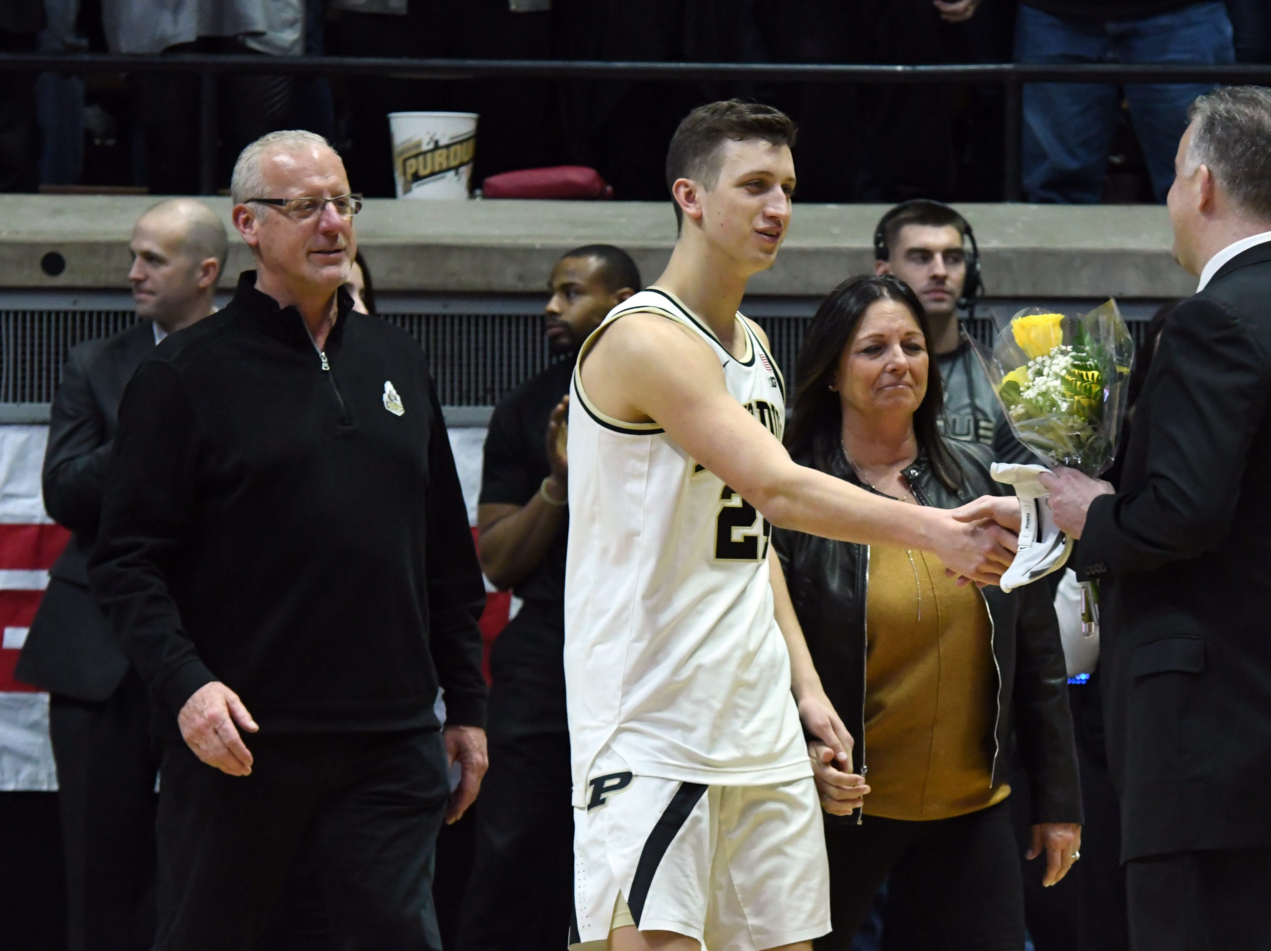 By Frank Oliver for the Journal and Courier --Images from Purdue's win against Ohio State on senior day on March 2, 2019 in West Lafayette. Purdue defeated the Buckeyes 86-51.