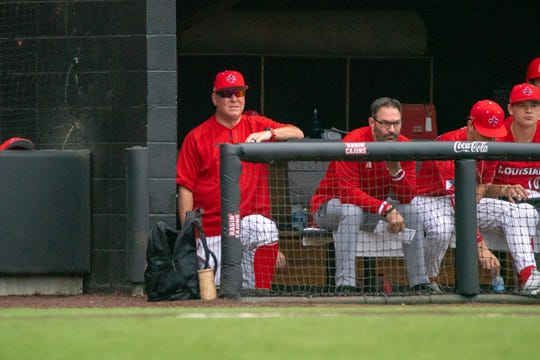 Despite winning both games of a doubleheader Saturday, UL coach Tony Robichaux wasn't happy with the view of his hitters from the dugout during a weekend series with Maryland.