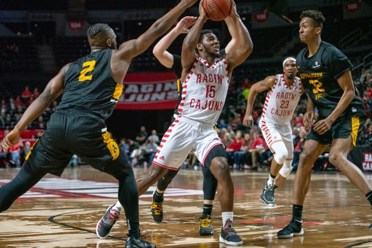 Guard P.J. Hardy takes the ball to the basket against Appalachian State last season. Hardy has played in UL's last three games.