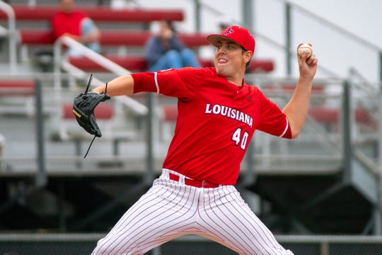 UL's Dalton Horton went five-plus inning with a perfect game in a 4-3 win over Maryland that lasted 14 innings Saturday.