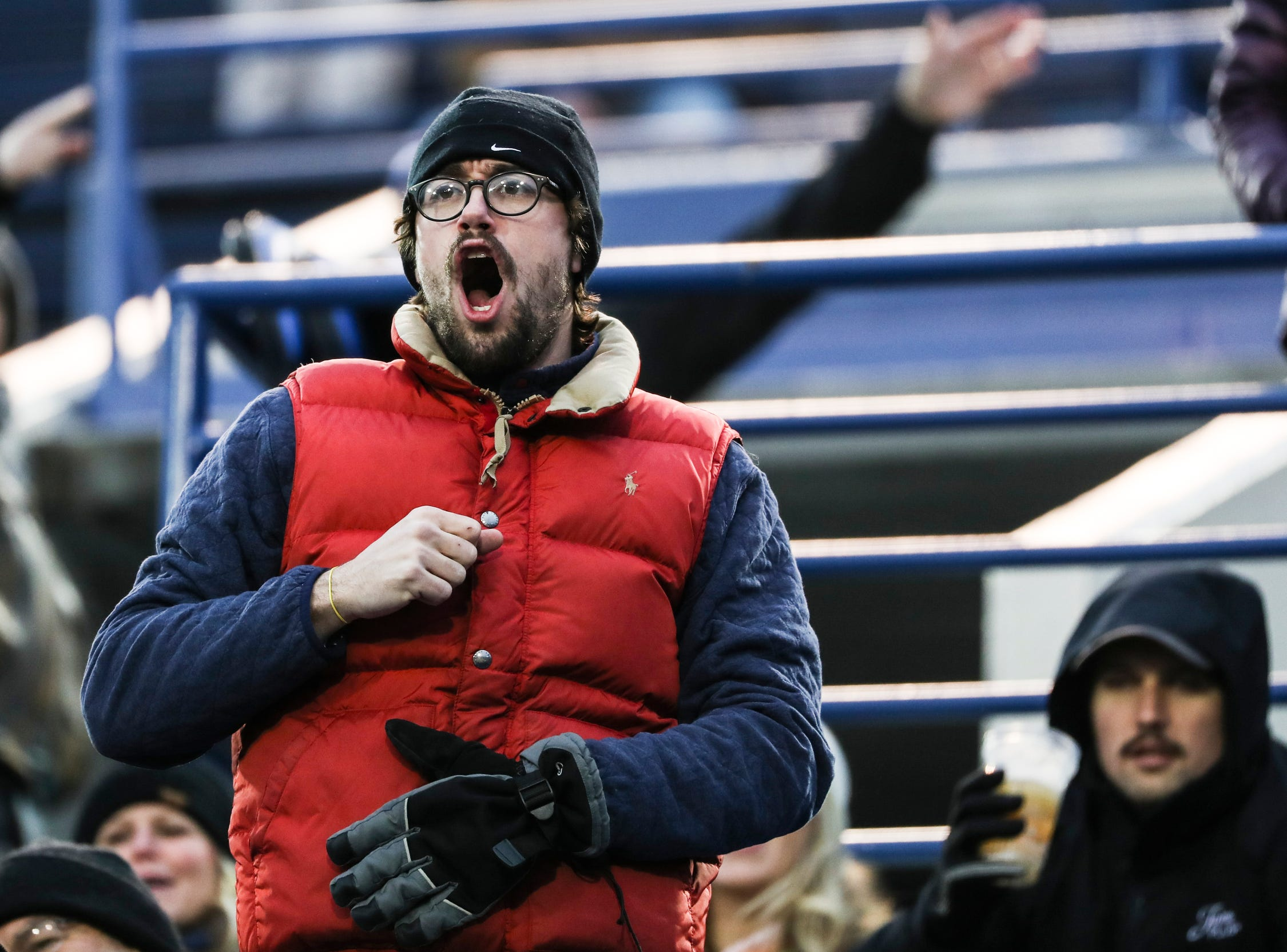 March 02, 2019 - Fans react during Saturday's game against the San Diego Fleet.