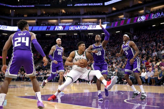 Bucks star Giannis Antetokounmpo has been dealing with right knee soreness. On the Bucks' current road trip, his minutes have been limited in some games, and he did not play for the first game of the trip.