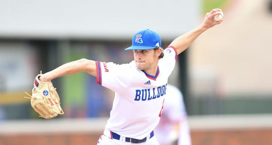 Louisiana Tech junior reliever Kyle Griffen (6) pitched on consecutive days during a three-game series against Arkansas State Friday and Saturday at J.C. Love Field.