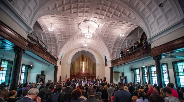 The Bloody Sunday service at Brown Chapel in Selma, Ala., on Sunday March 3, 2019. Sunday is the 54th commemoration of the 1965 Bloody Sunday bridge crossing.