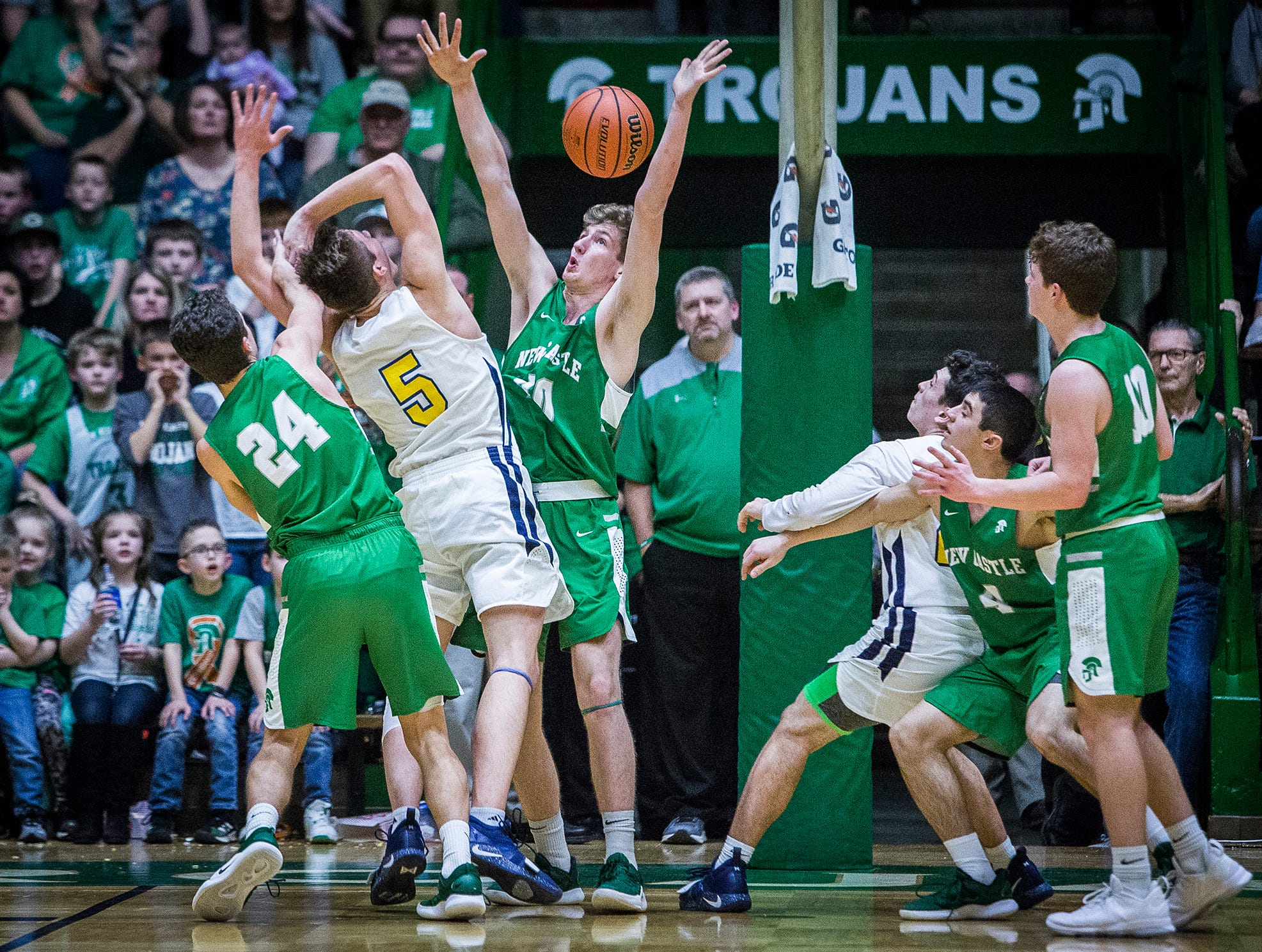 Delta defeated New Castle 59-55 in their sectional championship game at New Castle High School Saturday, March 2, 2019.