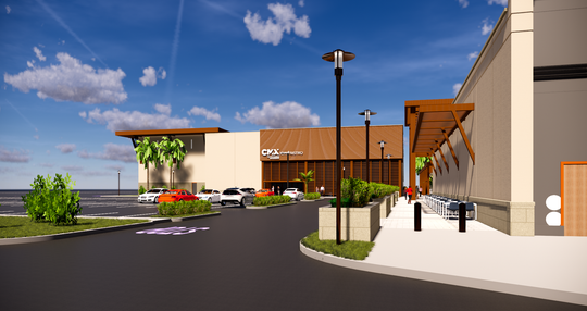 A view of the proposed CinéBistro at Coastland Center mall.