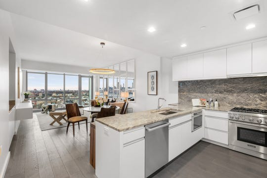 First class amenities, open space and impressive views are among the highlights of the penthouse model homes available at One Park condominiums in Cliffside Park, NJ.