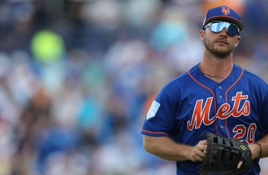 Peter Alonso has been having a great spring training at first base and at the plate. Saturday, March 2, 2019