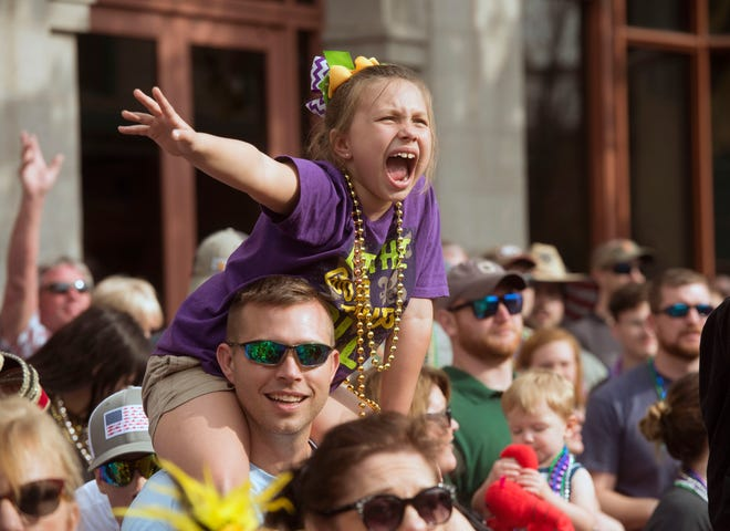 The largest downtown celebration returns on Saturday with the Pensacola Grand Mardi Gras Parade.