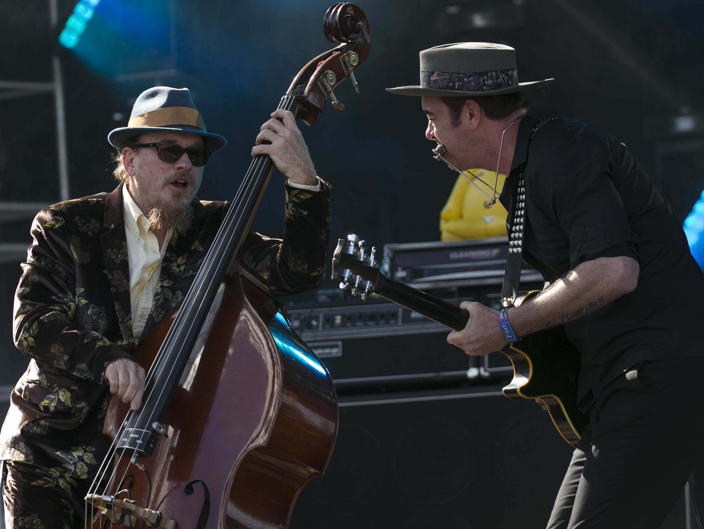 G Love & Special Sauce performs at the Innings Festival at Tempe Beach Park in Ariz. on Sunday, March 3, 2019.