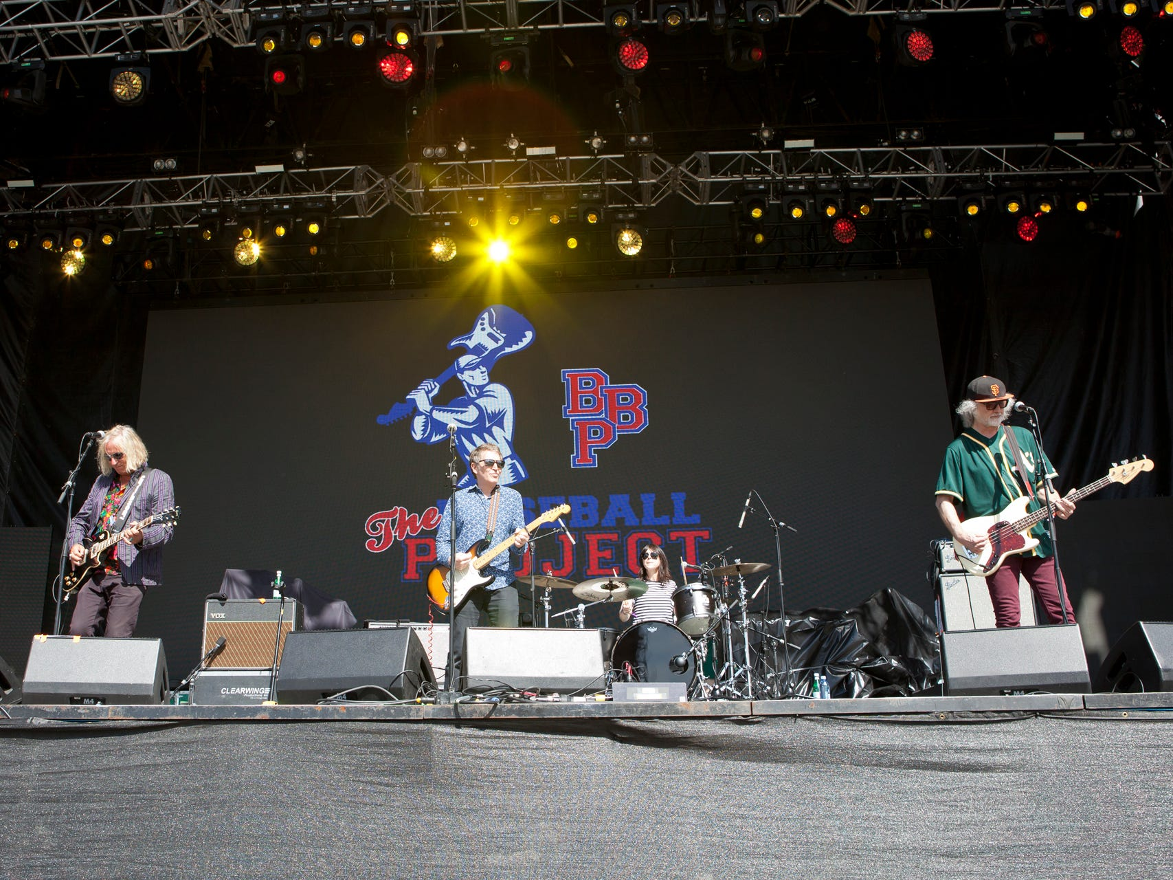 The Baseball Project perform at Tempe Beach Park during the Innings Festival on Saturday, March 2, 2019.
