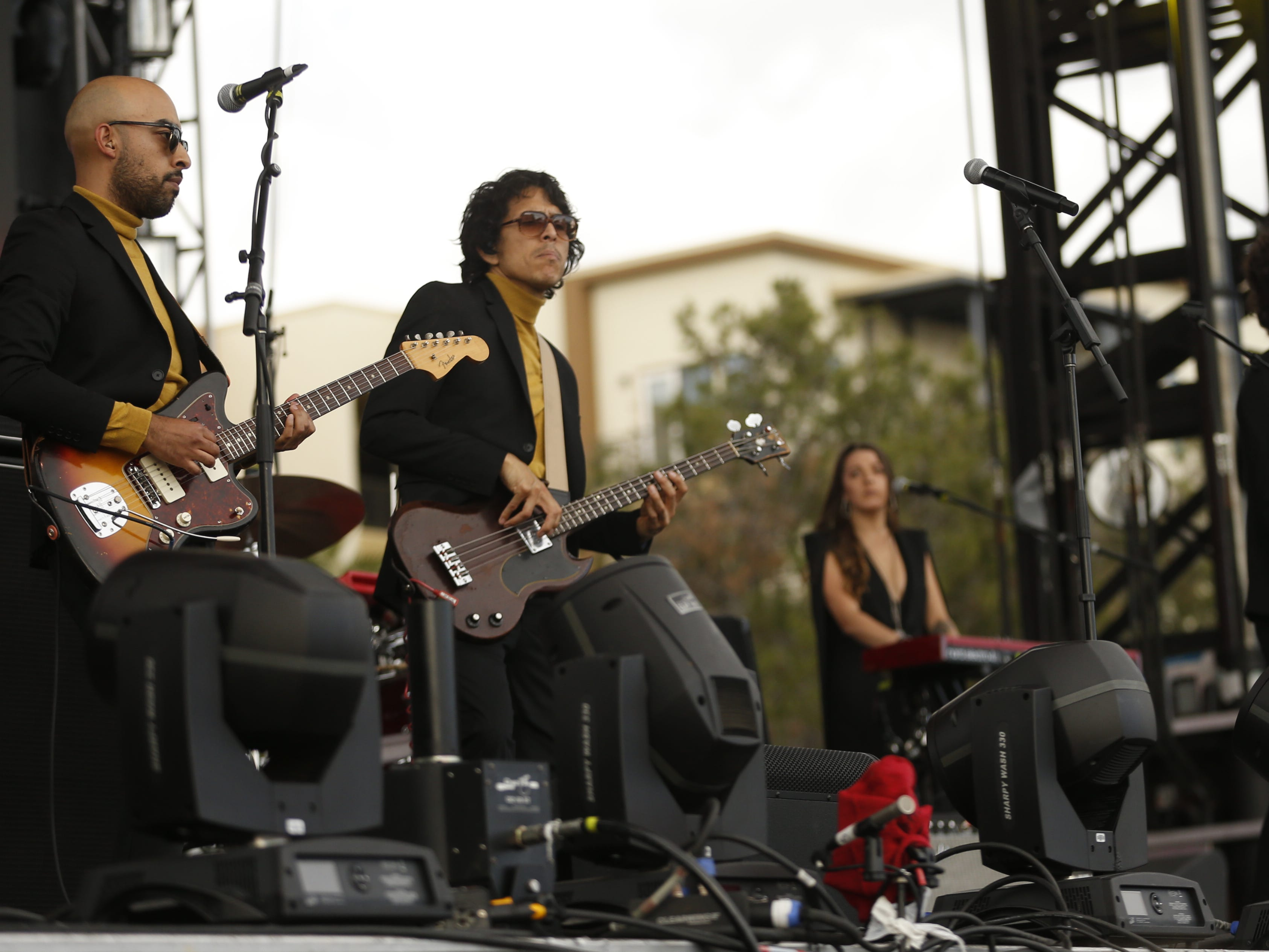 Chicano Batman performs during the McDowell Mountain Music Festival in Phoenix on March 2, 2019.