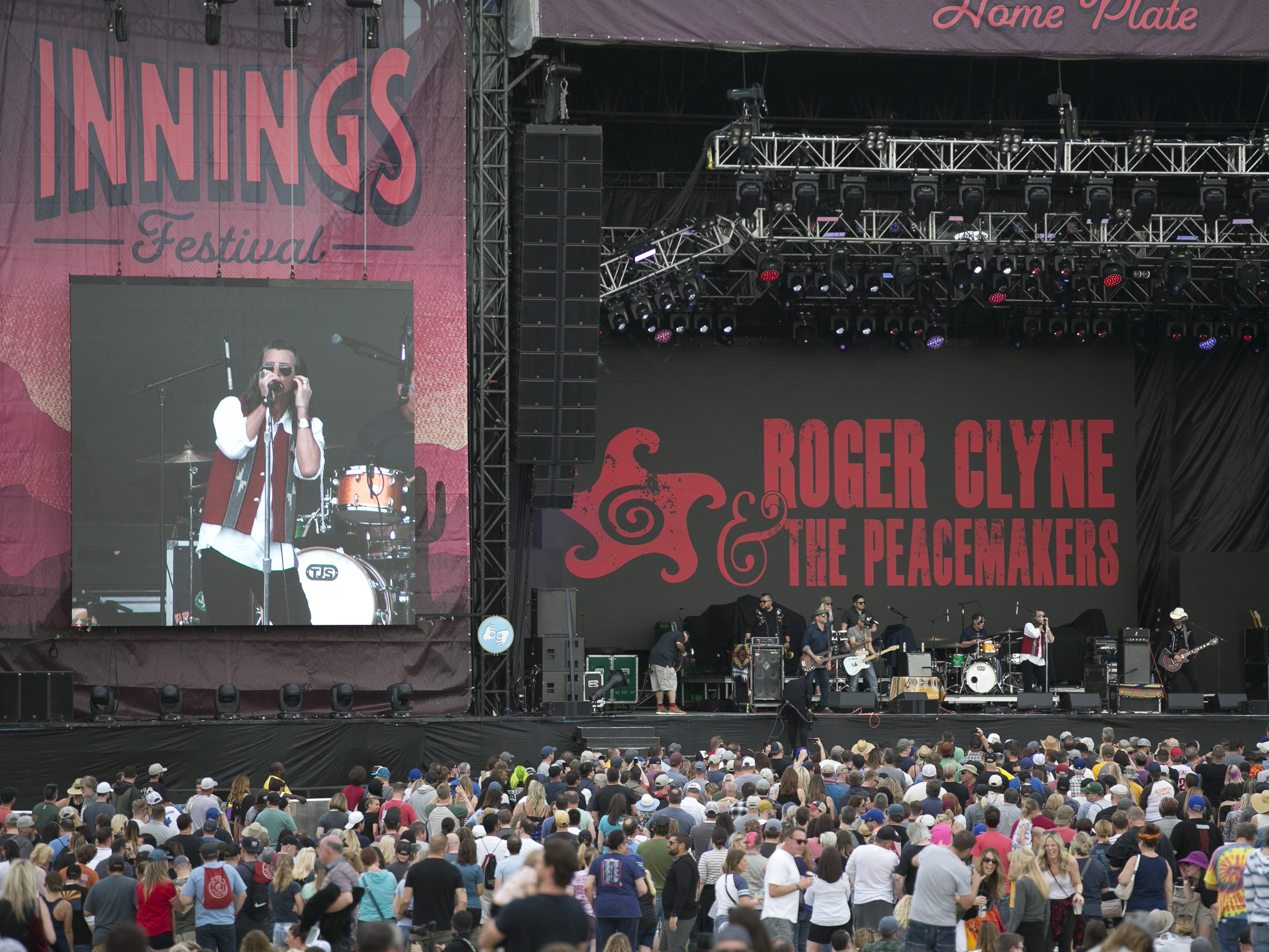 Roger Clyne and the Peacemakers perform at the Innings Festival at Tempe Beach Park in Ariz. on Saturday, March 2, 2019.
